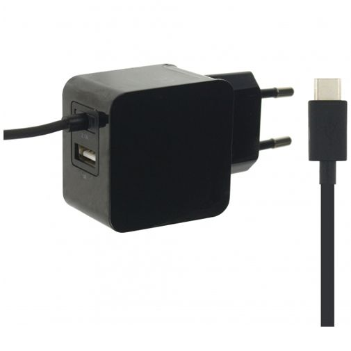 Mobilize Thuislader USB-C + USB 3.1A Black