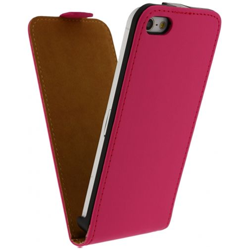 Productafbeelding van de Mobilize Ultra Slim Flip Case Fuchsia Apple iPhone 5/5S/SE