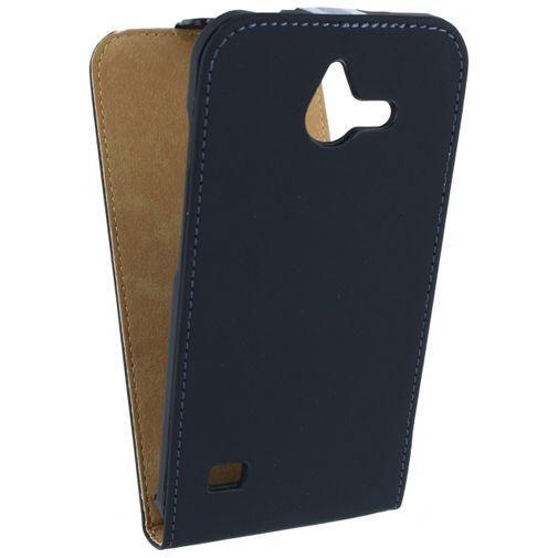 Mobilize Ultra Slim Flip Case Black Huawei Ascend Y550
