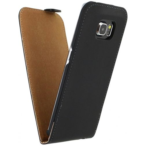 Productafbeelding van de Mobilize Ultra Slim Flip Case Black Samsung Galaxy S6 Edge