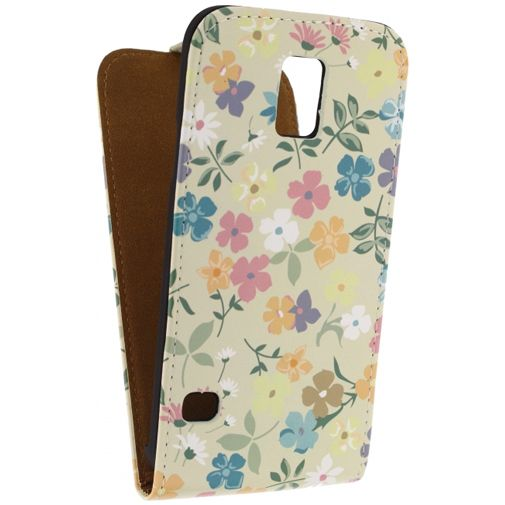 Mobilize Ultra Slim Flip Case Flowers Samsung Galaxy S5/S5 Plus/S5 Neo