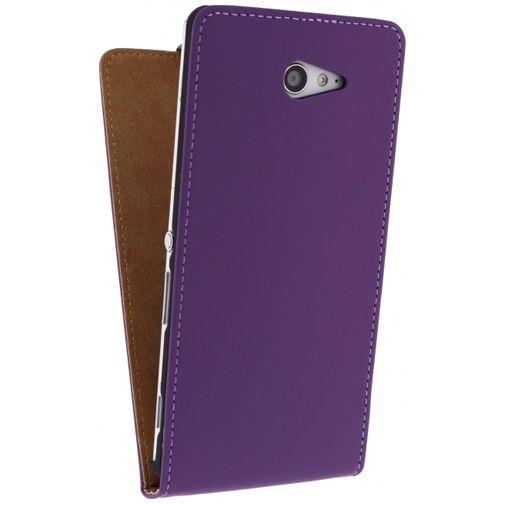 Mobilize Ultra Slim Flip Case Sony Xperia M2 Purple
