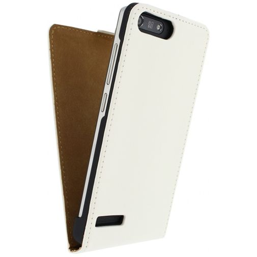 Productafbeelding van de Mobilize Ultra Slim Flip Case White Huawei Ascend G6 4G