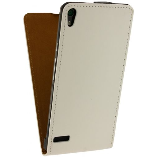 Mobilize Ultra Slim Flip Case White Huawei Ascend P6