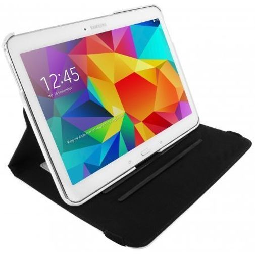Mobiparts 360 Rotary Stand Case White Samsung Galaxy Tab 4 10.1