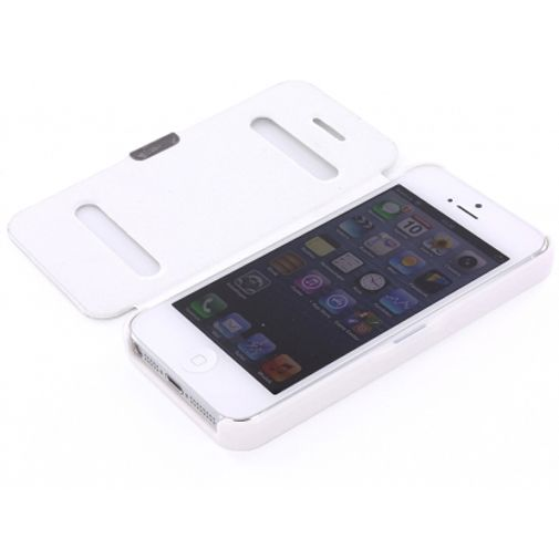 Productafbeelding van de Mobiparts Bookstyle Slide Case Apple iPhone 5 White