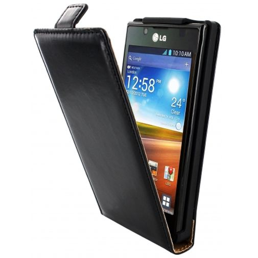 Mobiparts Classic Flip Case LG Optimus L7 Black