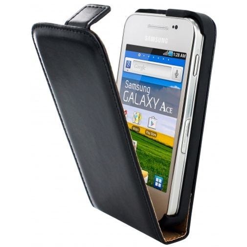 Mobiparts Classic Flip Case Samsung Galaxy Ace Plus Black