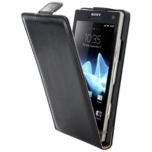 Mobiparts Classic Flip Case Sony Xperia S Black