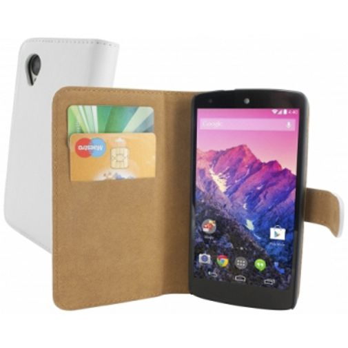 Mobiparts Classic Wallet Case LG Google Nexus 5 White