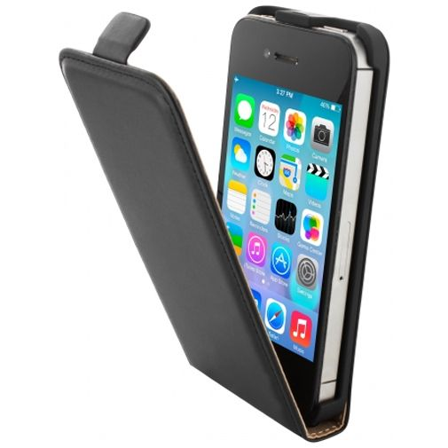 Mobiparts Essential Flip Case Black Apple iPhone 4/4S