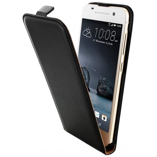 Mobiparts Essential Flip Case Black HTC One A9