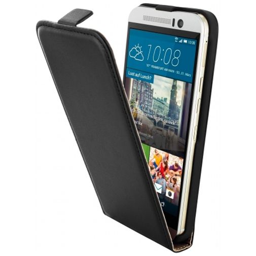 Mobiparts Essential Flip Case Black HTC One M9 (Prime Camera Edition)