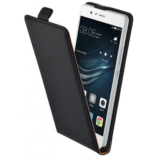 Mobiparts Essential Flip Case Black Huawei P9 Lite