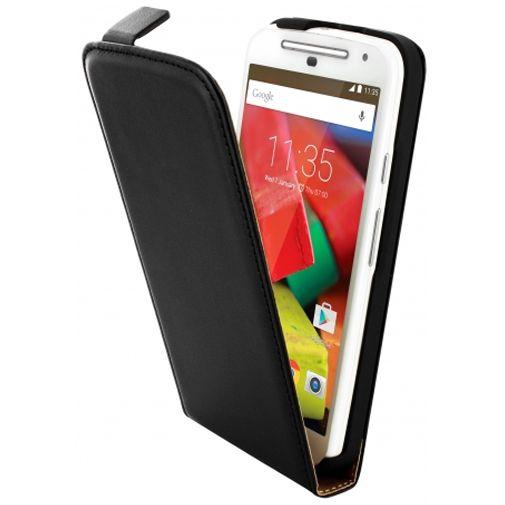Mobiparts Essential Flip Case Black Motorola Moto G (4G)
