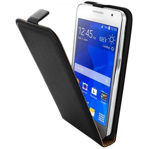 Mobiparts Essential Flip Case Black Samsung Galaxy Core 2