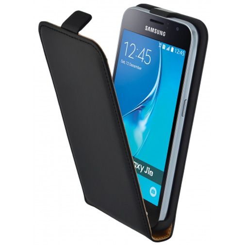 Mobiparts Essential Flip Case Black Samsung Galaxy J1 (2016)