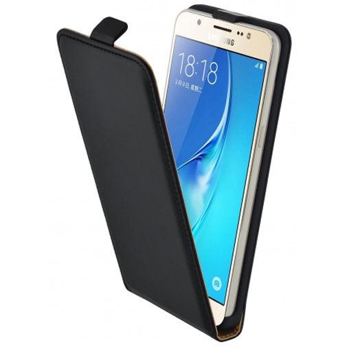 Mobiparts Essential Flip Case Black Samsung Galaxy J5 (2016)