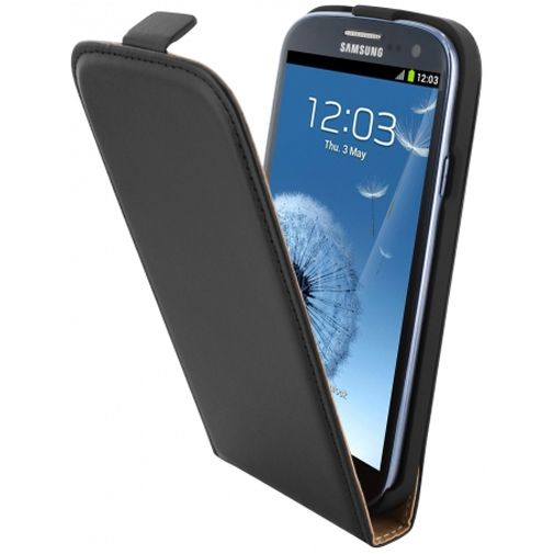 Mobiparts Essential Flip Case Black Samsung Galaxy S3 (Neo)