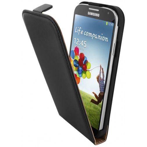 Mobiparts Essential Flip Case Black Samsung Galaxy S4