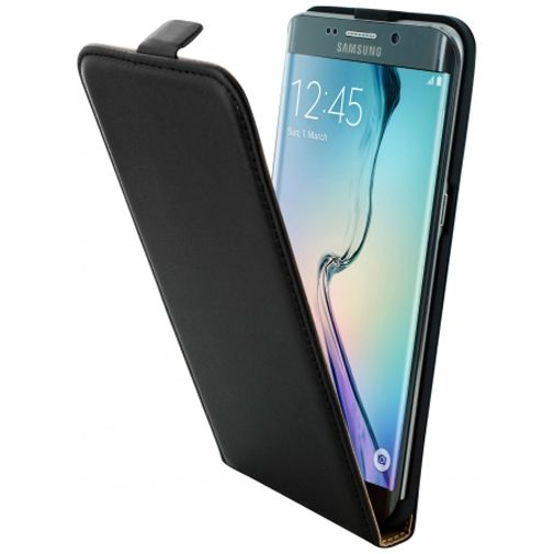 Mobiparts Essential Flip Case Black Samsung Galaxy S6 Edge Plus