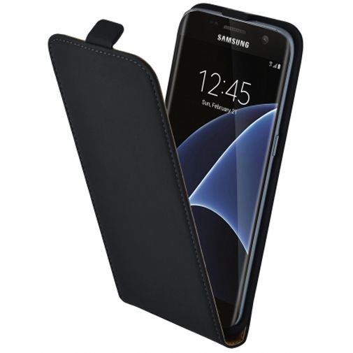 Mobiparts Essential Flip Case Black Samsung Galaxy S7 Edge