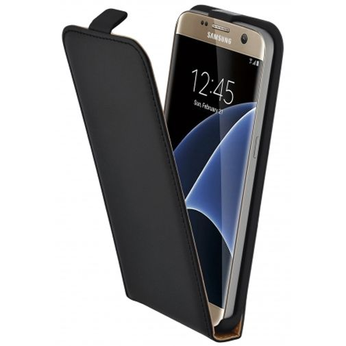 Mobiparts Essential Flip Case Black Samsung Galaxy S7