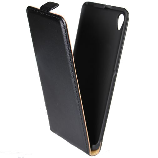 Mobiparts Essential Flip Case Black Sony Xperia XA