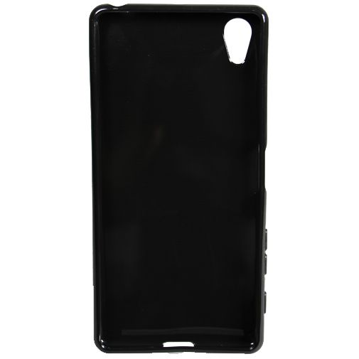 Mobiparts Essential TPU Case Black Sony Xperia X