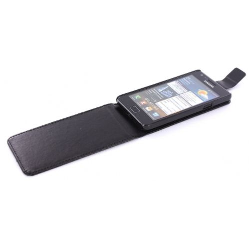 Mobiparts Flip Case Black Carbon Samsung Galaxy SII