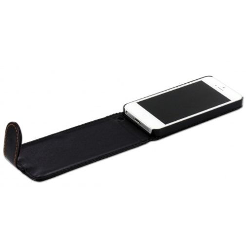 Productafbeelding van de Mobiparts PU Flip Case Apple iPhone 5 Black