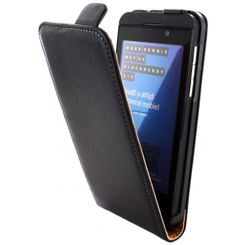 Mobiparts PU Flip Case BlackBerry Z10 Black