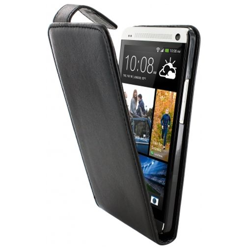 Mobiparts PU Flip Case HTC One Black