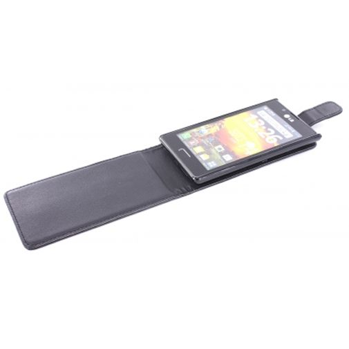 Productafbeelding van de Mobiparts PU Flip Case LG Optimus L7 Black