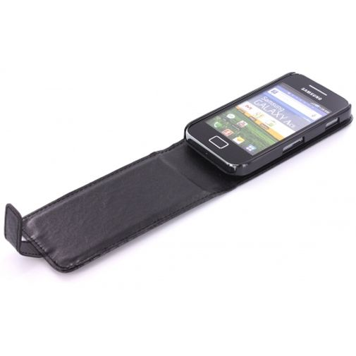 Mobiparts PU Flip Case Samsung Galaxy Ace Carbon Black