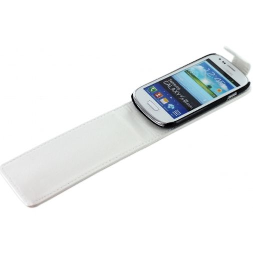 Mobiparts PU Flip Case Samsung i8190 Galaxy S3 Mini (VE) White