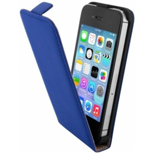 Mobiparts Premium Flip Case Apple iPhone 4/4S Blue