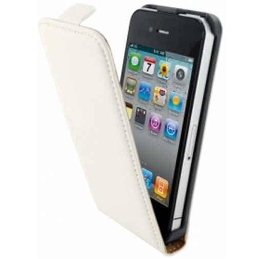Productafbeelding van de Mobiparts Premium Flip Case Apple iPhone 4/4S White