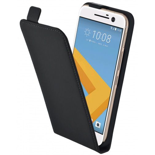 Mobiparts Premium Flip Case Black HTC 10 (Lifestyle)