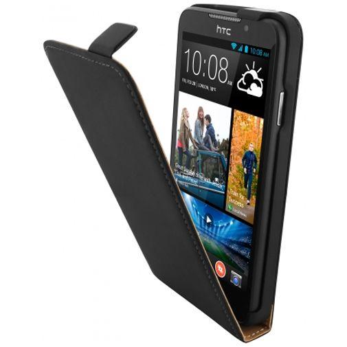 Mobiparts Premium Flip Case Black HTC Desire 516