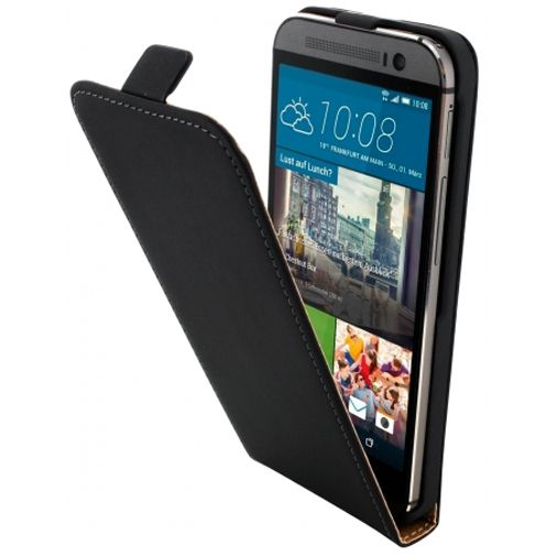 Mobiparts Premium Flip Case Black HTC One M9 (Prime Camera Edition)