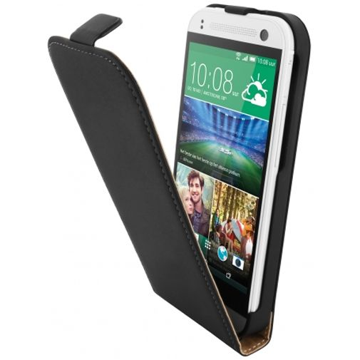Mobiparts Premium Flip Case Black HTC One Mini 2