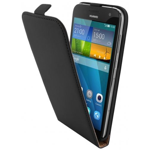 Mobiparts Premium Flip Case Black Huawei Ascend G7