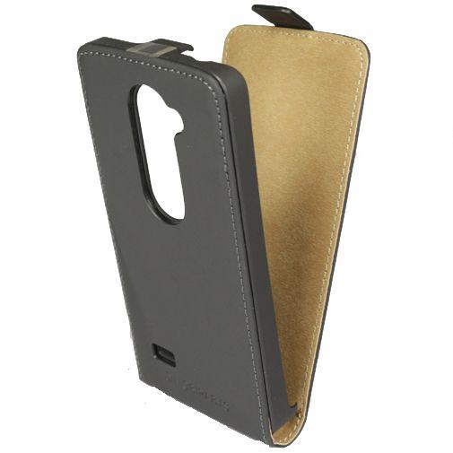 Mobiparts Premium Flip Case Black LG Leon