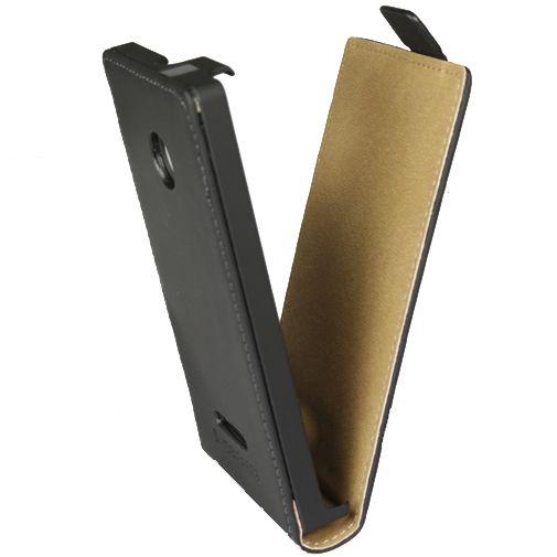 Mobiparts Premium Flip Case Black Microsoft Lumia 532