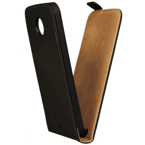Mobiparts Premium Flip Case Black Motorola New Moto X