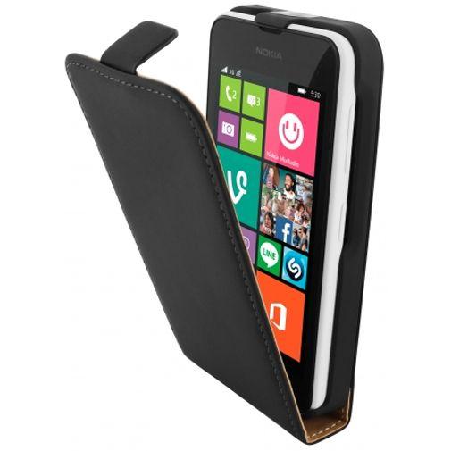 Mobiparts Premium Flip Case Black Nokia Lumia 530