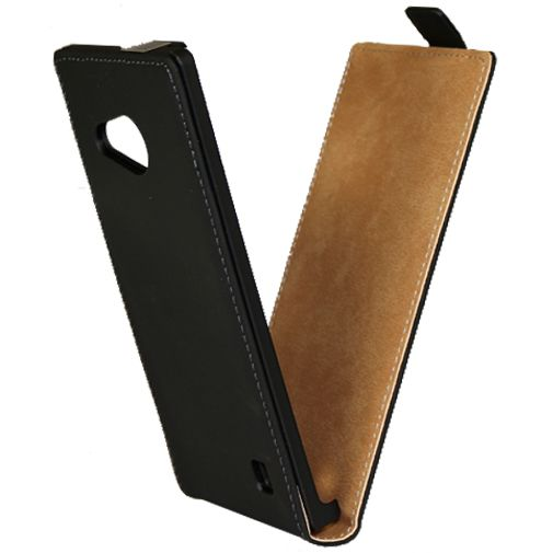 Mobiparts Premium Flip Case Black Nokia Lumia 735