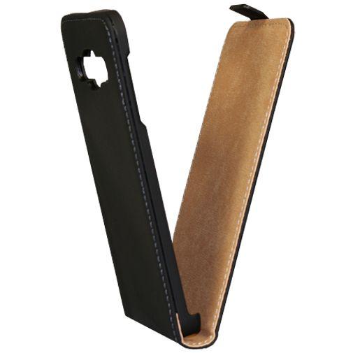 Mobiparts Premium Flip Case Black Samsung Galaxy A3
