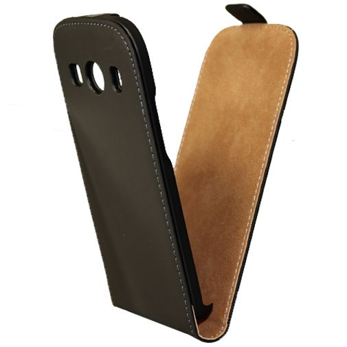 Mobiparts Premium Flip Case Black Samsung Galaxy Ace 4